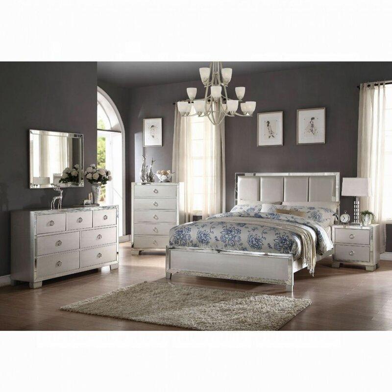 Rosdorf Park Cangelosi Upholstered Standard Configurable Bedroom Set Reviews Wayfair