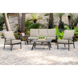 Colson 5 Piece Sofa Seating Group with Sunbrella Cushions by Gracie Oaks