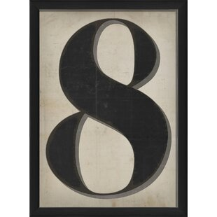 Number Eight Framed Textual Art by The Artwork Factory