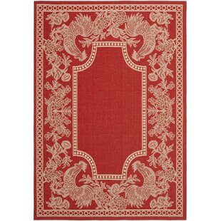 Laurel Red/Natural Indoor/Outdoor Rug