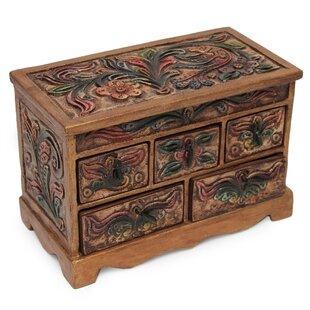 Affordable Antique Ivy Wood Jewelry Box ByBloomsbury Market