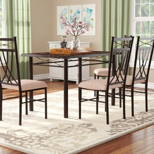Branden 5 Piece Dining Set Red Barrel Studio