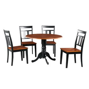 Showers 5 Piece Drop Leaf Solid Wood Dining Set