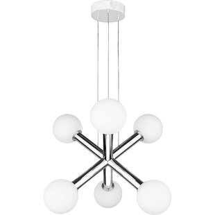 Orren Ellis Reimers 6-Light LED Sputnik Chandelier