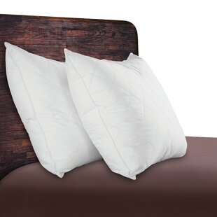Quilted Natural Comfort Down Feather Standard/Queen Pillow (Set of 2)