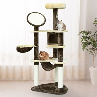153cm Pawhut Deluxe Cat Tree by Symple Stuff