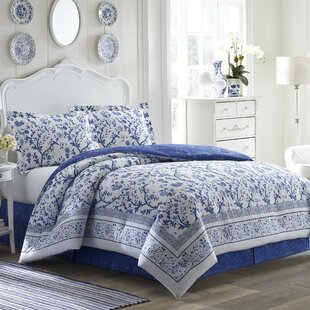 Charlotte Cotton Reversible Comforter Set by Laura Ashley Home by Laura Ashley