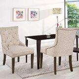 Fierro Tufted Parsons Chair in Beige (Set of 2) by One Allium Way®