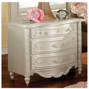 Reviews Citlali 3 Drawer Nightstand By House of Hampton