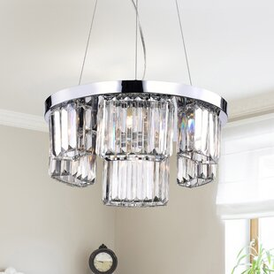 Everly Quinn Azalea 6-Light Crystal Chandelier