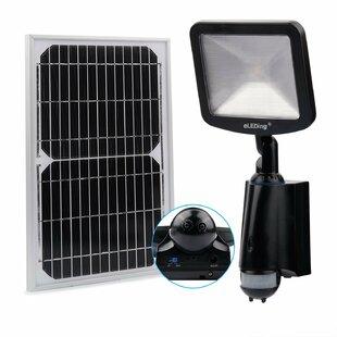 Symple Stuff Kisner Solar Hybrid Microgrid LED Outdoor Floodlight with Motion Sensor