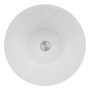 Best Deals Regatta Ceramic Circular Vessel Bathroom Sink ByNantucket Sinks