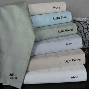 300 Thread Count Solid Color 100% Egyptian-Quality Cotton Sheet Set