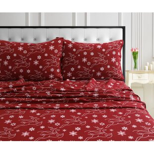 Riggs Soft And Warm Flannel Sheet Set by The Holiday Aisle No Copoun