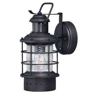 Longshore Tides Griffin Modern 1-Light Outdoor Wall Lantern