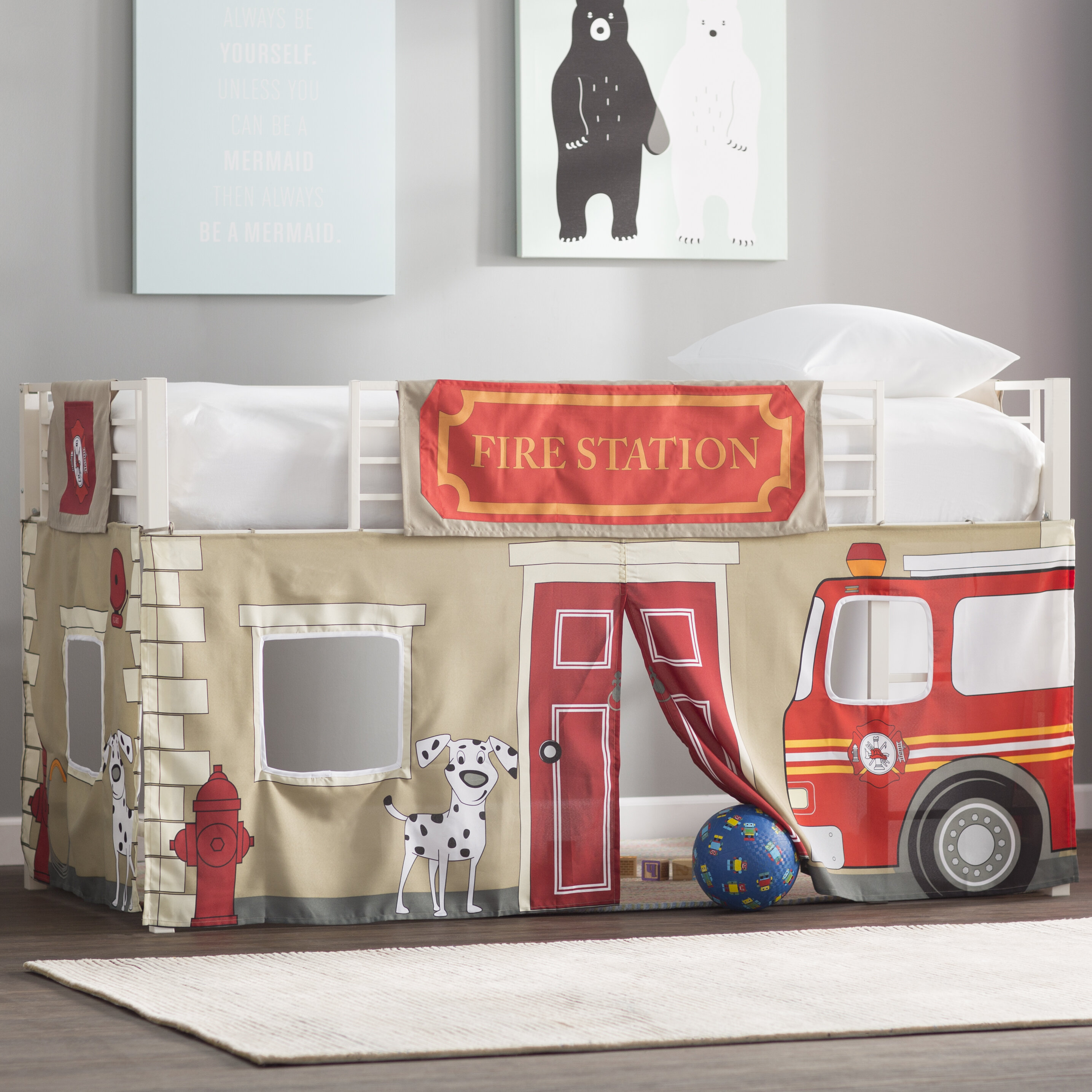 Zoomie Kids Woodlynne Fire Department Bunk Bed Accessories Reviews Wayfair