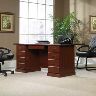 Order Clintonville U-Shaped Executive Desk with Hutch by Darby Home Co