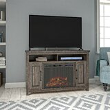 Broussard TV Stand for TVs up to 48 with Fireplace Included by Loon Peak®