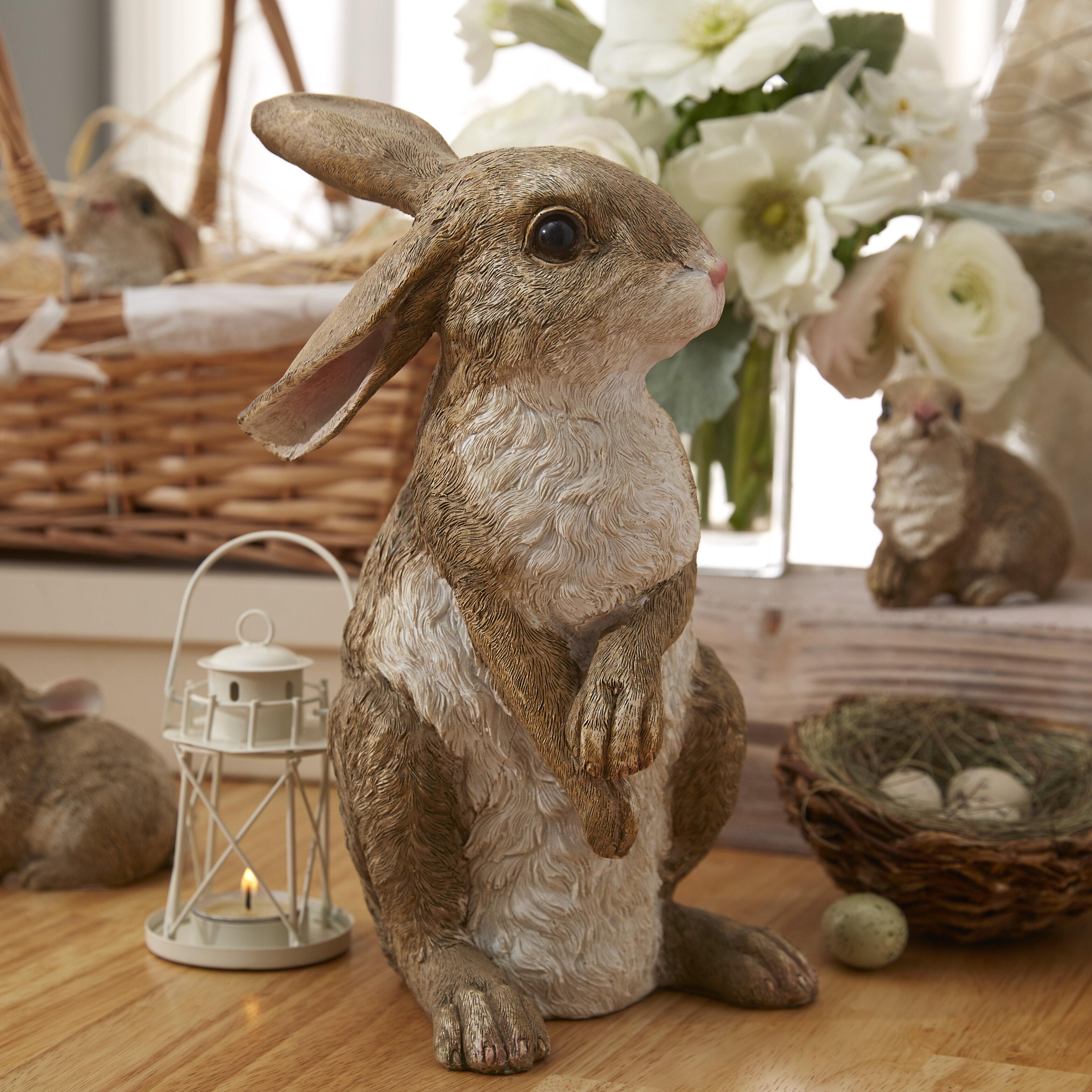 Design Toscano Hopper, the Bunny, Standing Garden Rabbit Statue ...