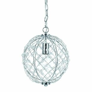 Silver Web 1-Light Pendant by AF Lighting