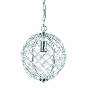 Silver Web 1-Light Pendant by AF Lighting