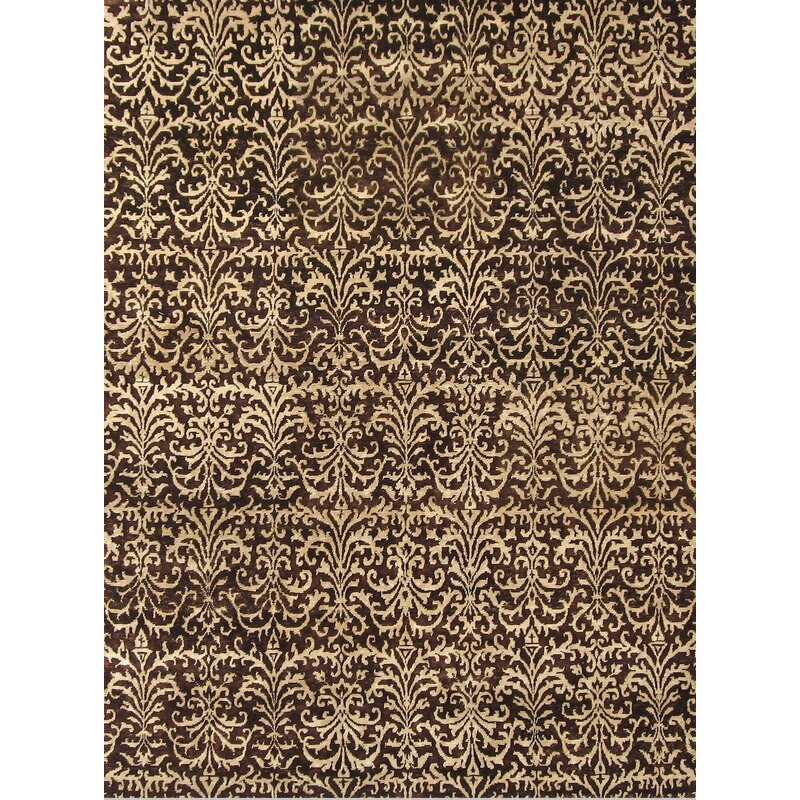 Exquisite Rugs Metropolitan Hand Knotted Wool Brown Ivory Area Rug Wayfair
