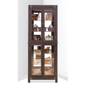 Espresso Corner China & Curio Cabinets You'll Love | Wayfair