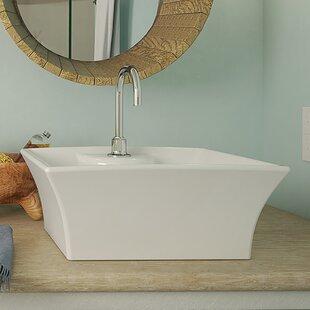 Dahlia Classically Redefined Ceramic Rectangular Vessel Bathroom Sink with Overflow DECOLAV