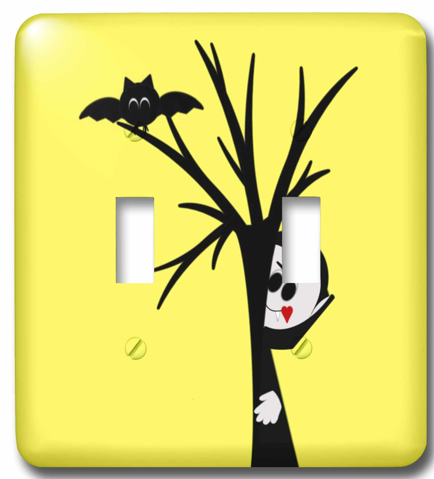 3drose Vampire Hiding Behind A Tree 2 Gang Toggle Light Switch Wall Plate Wayfair