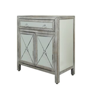 Monsen Mirrored 2 Door Accent Cabinet by House of Hampton