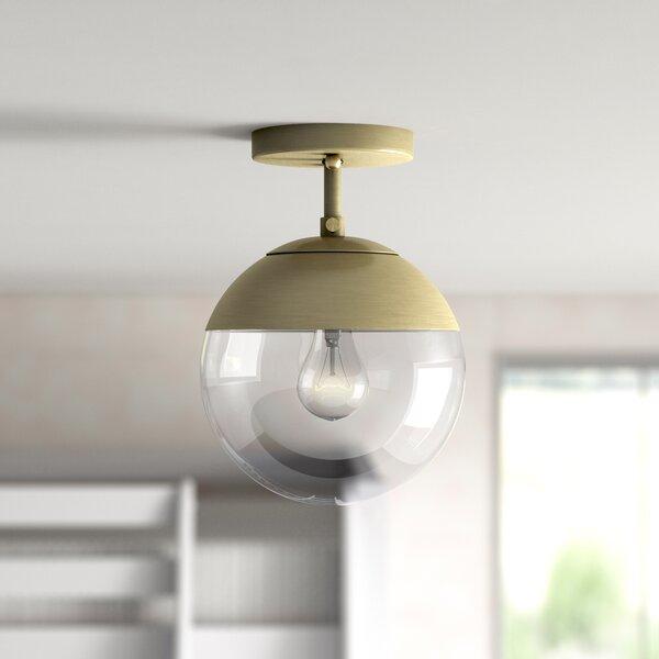 "Joss & Main Gleeson 1 - Light 7.5"" Simple Globe Semi Flush ..."