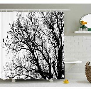 Borden Autumn Fall Tree Branch Shower Curtain ByWinston Porter