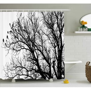 Borden Autumn Fall Tree Branch Single Shower Curtain