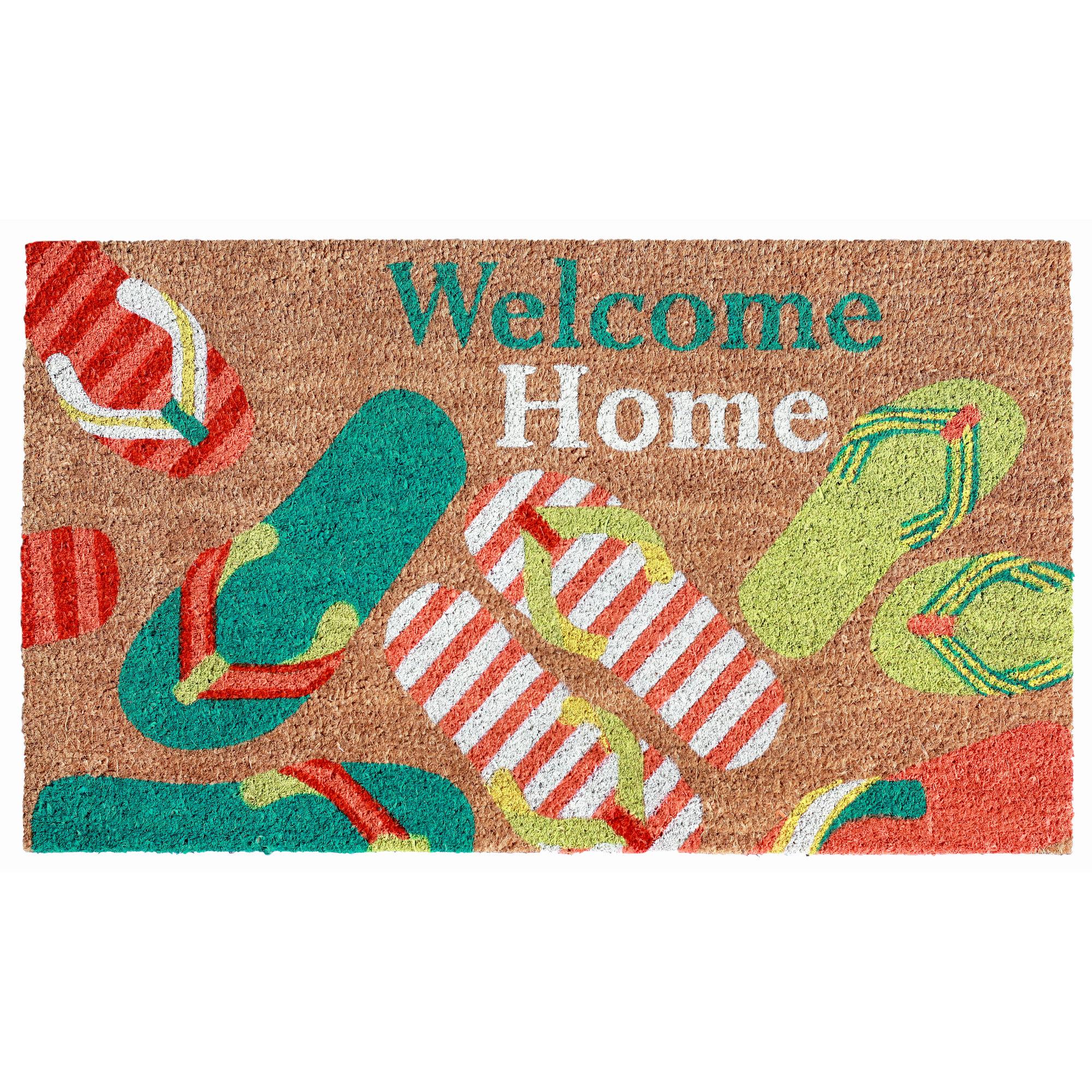f79918ddb Highland Dunes Blais Welcome Flip Flops Doormat