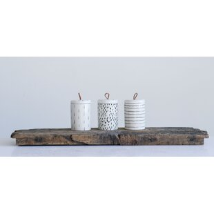 Stoneware 3 Piece Storage Jar Set