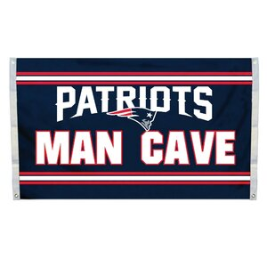 NFL Man Cave Flag and 4 Grommets Set