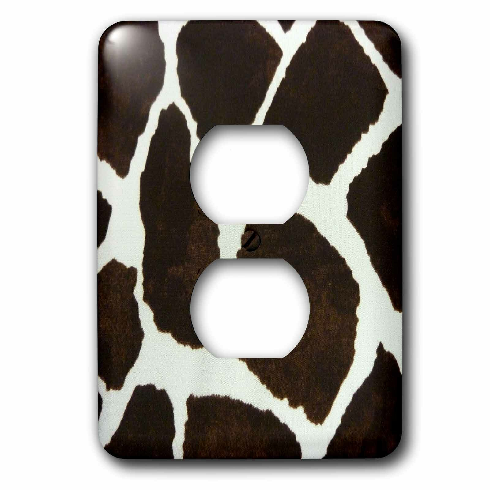 3drose And Cow Print 1 Gang Duplex Outlet Wall Plate Wayfair