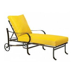 Woodard Cascade Reclining Chaise Lounge with Cushion