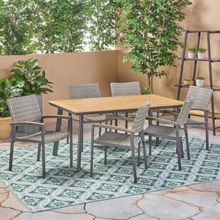 Ivy Bronx Colesberry Outdoor 7 Piece Dining Set