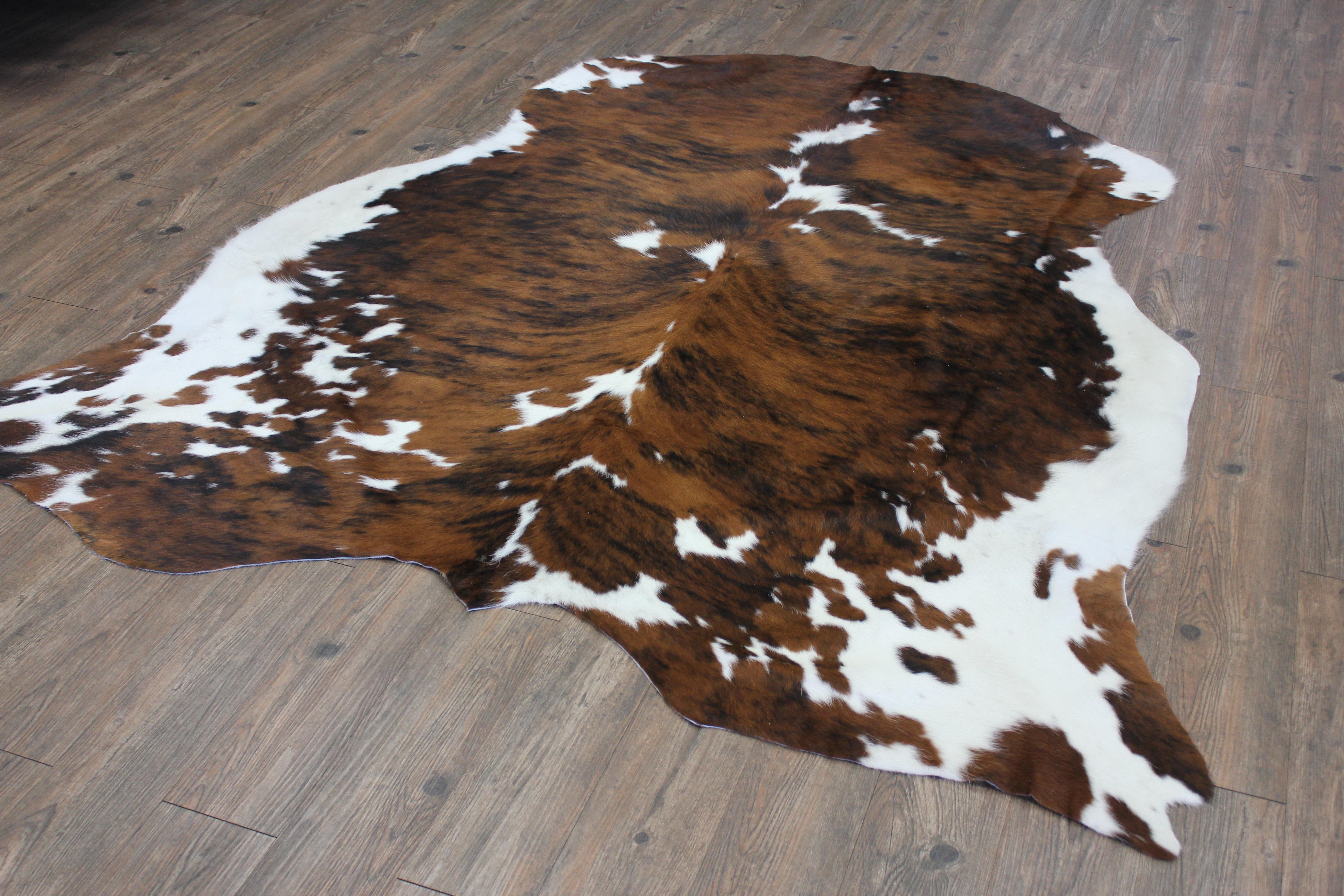 5 X 5 Best Cow Hides Area Rug A Star Western Brown Cowhide
