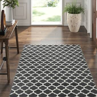 Exquisite Rugs Berlin Charcoal Ivory Area Rug Perigold