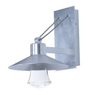 Brayden Studio Musson LED 1-Light Outdoor Wall Lantern