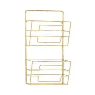 modern 2 tier wall mounted magazine rack - Wall Magazine Rack