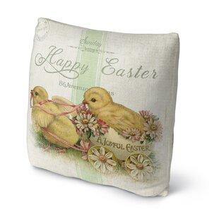 A Joyfull Easter Throw Pillow