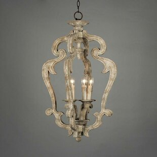 One Allium Way Armour Wood 3-Light Foyer Pendant
