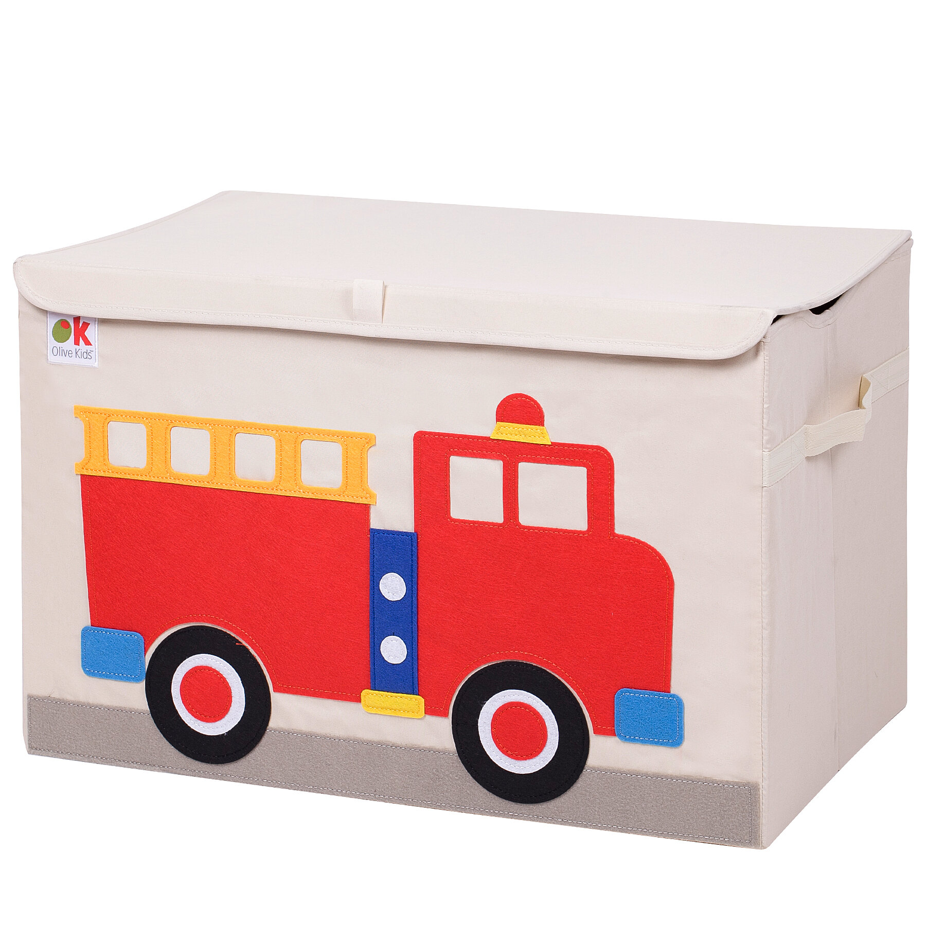 Wildkin Olive Kids Fire Truck Toy Box Reviews Wayfair