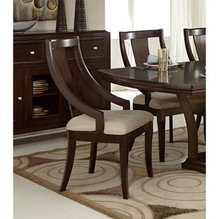 Beere Solid Wood Dining Chair with Curved..