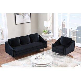 Sinegal 2 Piece Velvet Living Room Set by Ivy Bronx