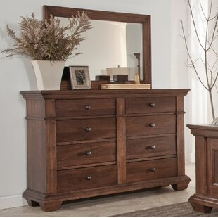 Maglio 8 Drawer Double Dresser with Mirror