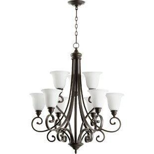 Andover Mills Asheville Transitional 9-Light Shaded Chandelier